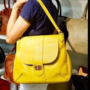 PinkHaley NEW Mustard Yellow Shoulder Bag Tote nwt